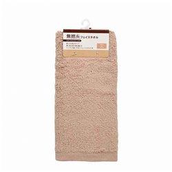 [タオル・バスタオル] No.142892 / 無撚糸 フェイスタオル ブラウン 32*73cm
