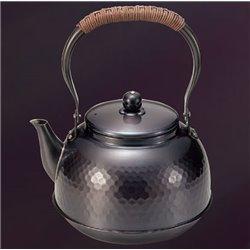 [新光金属株式会社] No.174905 / 純銅黒銅仕上げ 槌目湯沸し 2L