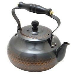 [新光金属株式会社] No.174907 / 赤胴仕上げ 槌目湯沸し 2L(木柄)