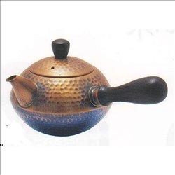 [新光金属株式会社] No.174857 / 王輝 銅製槌目横手急須(茶釜型)