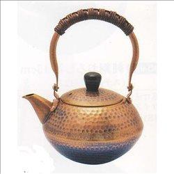 [新光金属株式会社] No.174859 / 王輝 銅製槌目吊式急須(茶釜型)