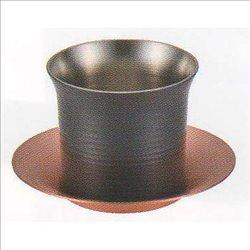[新光金属株式会社] No.174868 / 純銅黒銅仕上げ 一口冷茶グラス(受皿付)