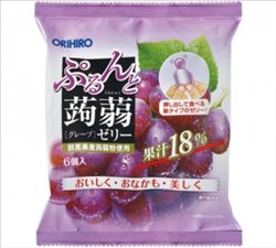[Jelly] No.172598 / Grape Flavored Fruit Konjac Jelly (20g / 6p)