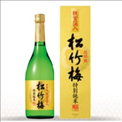 [Alcohol] No.175198 / Special Selection Shochikubai (special Junmai) 720 liters with pure gold leaf (with carton)