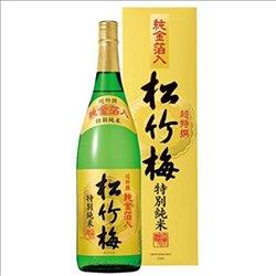 [アルコール飲料] No.175197 / 超特撰松竹梅(特別純米)純金箔入1.8L (カートン入)