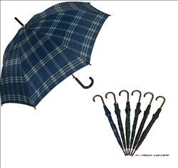 [レイン] No.127663 / 紳士 60cm/ジャンプ 格子柄アソートセット(傘)