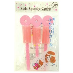 [Hairstyling supplies] No.161768 / Soft Sponge Roller 3P