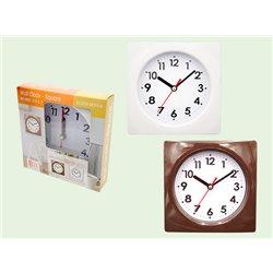 [時計] No.144068 / 掛け時計 スクエア 2色AST 15*15*3.4cm