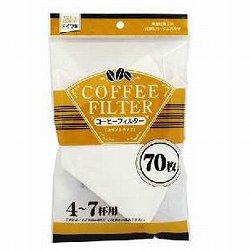 [お茶・コーヒー用品] No.110440 / コーヒーフィルター ホワイトタイプ 4~7杯用  70枚