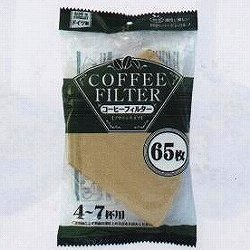 [お茶・コーヒー用品] No.112334 / コーヒーフィルター ブラウンタイプ 4~7杯用 70枚