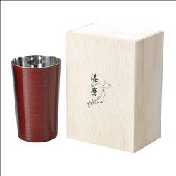 [コップ] No.174850 / 2重焼酎カップ(1客)根来塗り