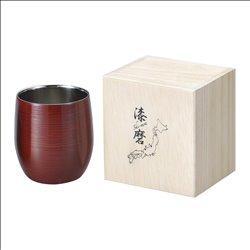 [コップ] No.174854 / 2重ロックカップ(1客)根来塗り