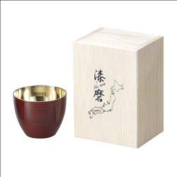 [コップ] No.174856 / 2重ぐい呑み(1客)根来塗り